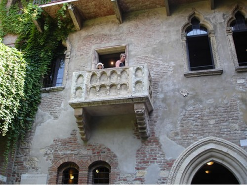 Juliet's Balcony Verona, Italy