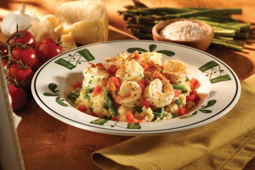 Shrimp and Asparagus Risotto at The Olive Garden Italian Restaurant