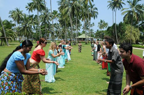 Sinhala and Tamil New Year Games - Egg Catching