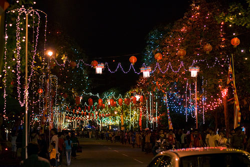 Streets On Vesak Day
