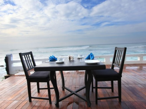 Outdoor dining area at Cantaloupe Aqua Galle