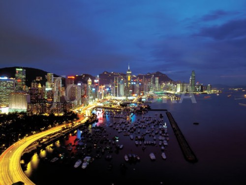Luxury Shopping Destinations: Hong Kong at night over Causeway Bay