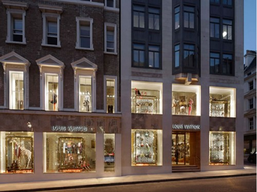 Luxury Shopping Destinations: Louis Vuitton store at Bond Street