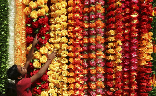 Diwali Flower Garlands