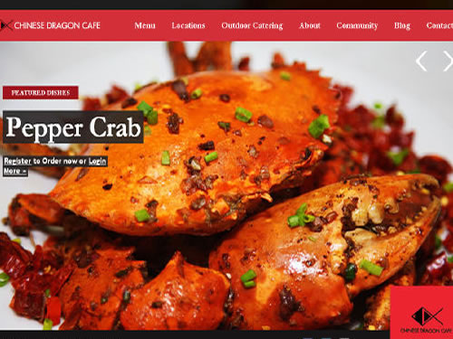Chinese Dragon Cafe Pepper Crab Dish