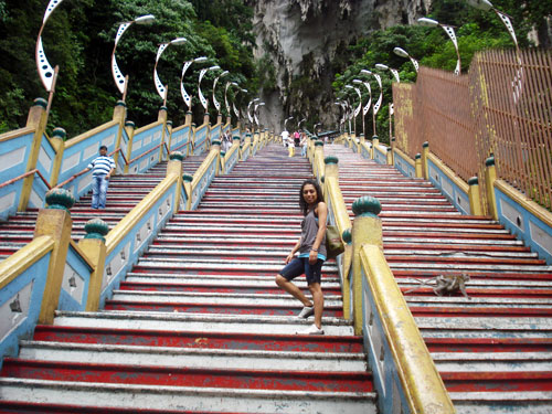 Steps Leading To The Top Of The Batu Caves