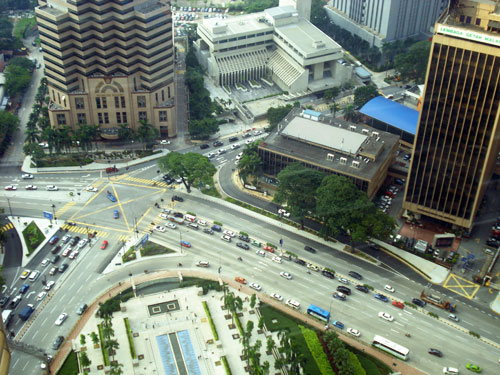 Kuala Lumpur City Center View From Top